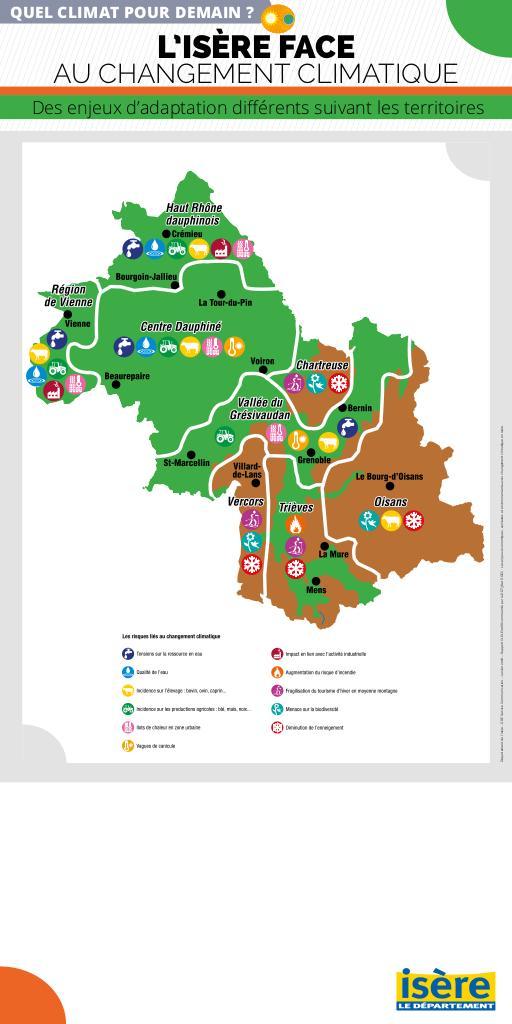 Changement climatique en Isère  